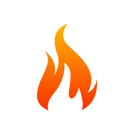 Fire icon illustration for design - stock vector