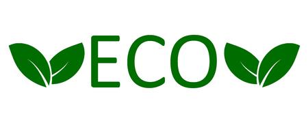 Logo eco with leaves Logo