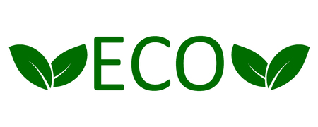Logo eco with leaves Illustration