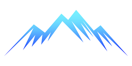 Blue mountain – stock vector
