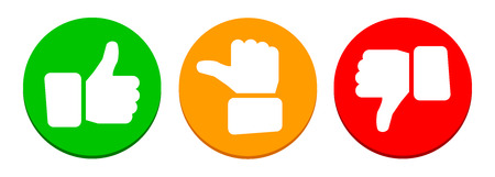 Valuation thumbs button - stock vector 스톡 콘텐츠 - 102553639