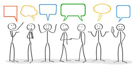 Business meeting, corporate, communication  イラスト・ベクター素材