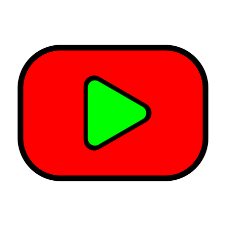 Video Player Button – vector