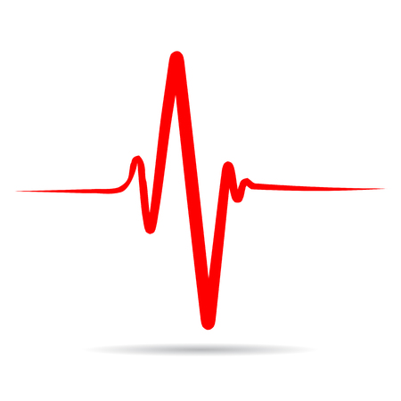 Sign heart pulse, one line, cardiogram - for stock