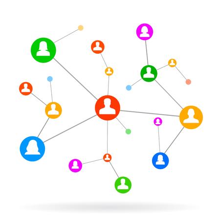 Social Network - vettore per magazzino Vettoriali