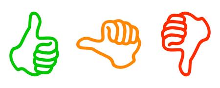 Waardering thumbs - voor voorraad