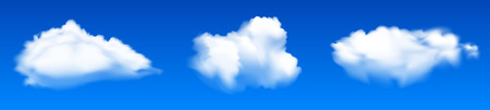 Three clouds - stock vector Иллюстрация