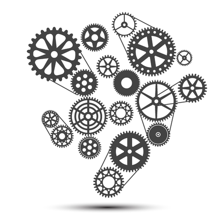 Realization concept, clockwork - stock vector Illustration