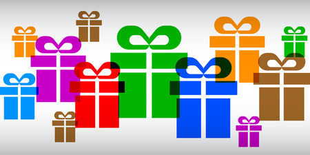 Gifts set - vector