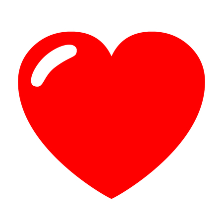 Heart with shading - vector Illustration