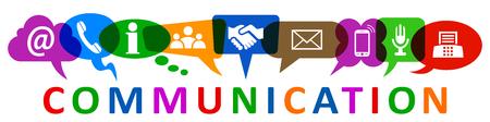 Set of nine icons communication - vector Illustration