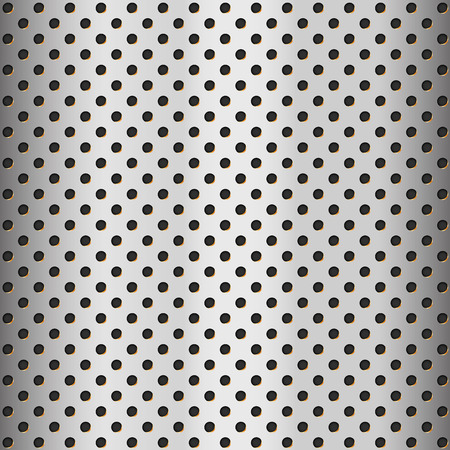 Aluminum texture with hole – stock vector