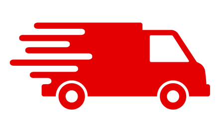 Fast shipping delivery truck, fast shipping service – for stock
