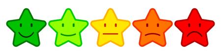 Five smilies star - stock vector Ilustração