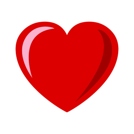 Heart with reflection and shading - stock vector