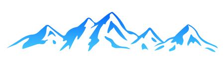 Silhouette  mountain – vector Stock Vector - 102794965