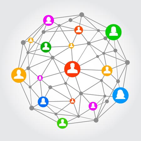Sociaal netwerk - vector