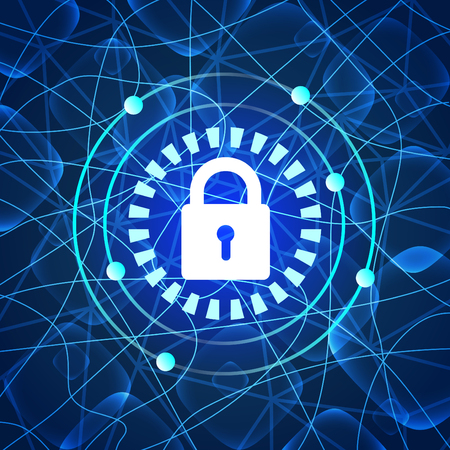 Digital protection and security – for stock Иллюстрация