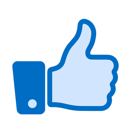 Thumb up, i like it, Yes, good – stock vector