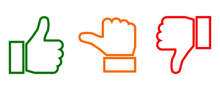 Valuation thumbs sign - vector