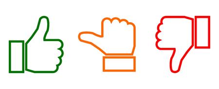 Waardering thumbs sign - vector