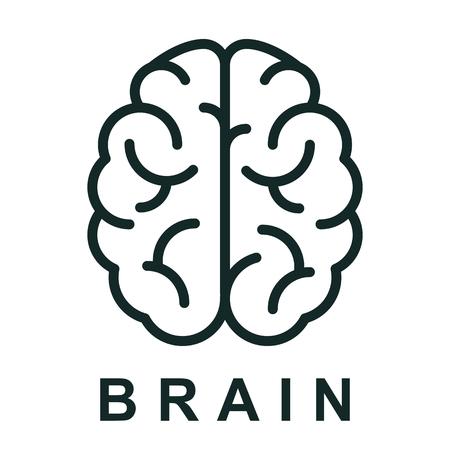 Icono de cerebro humano con enlaces neuronales - vector de stock Ilustración de vector
