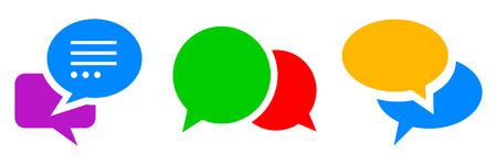 Set of communication icons in a pair, chat sign - stock vector