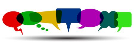 Set of seven icons communication - for stock Illustration