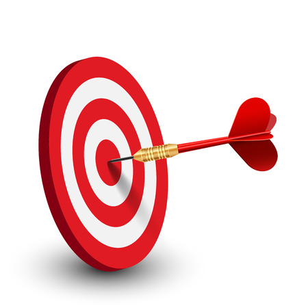 Red target – stock vector
