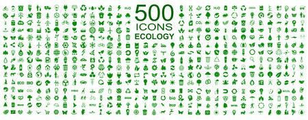 Set of 500 ecology icons – stock vector Stock Illustratie