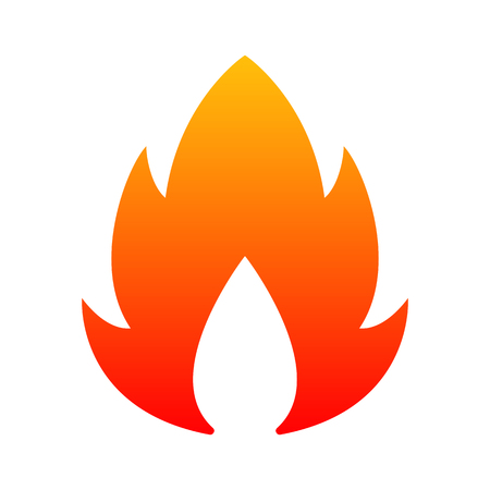 Fire icon sign - vector illustration
