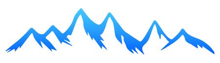 Silhouette mountain – for stock