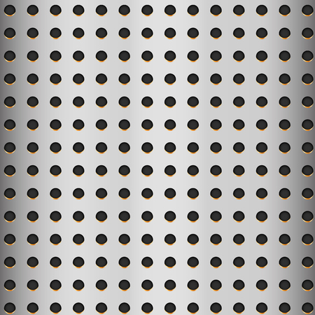 Aluminum texture with hole – vector Иллюстрация