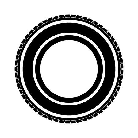 Simple black auto tire - stock vector Иллюстрация