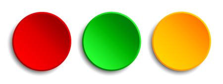 Red, green, yellow button - stock vector