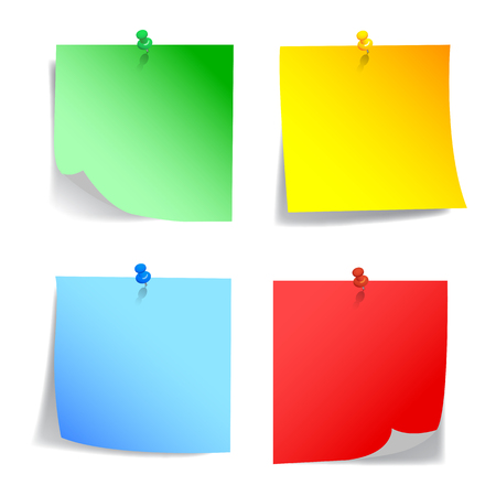 Set colored sticky papers - vector