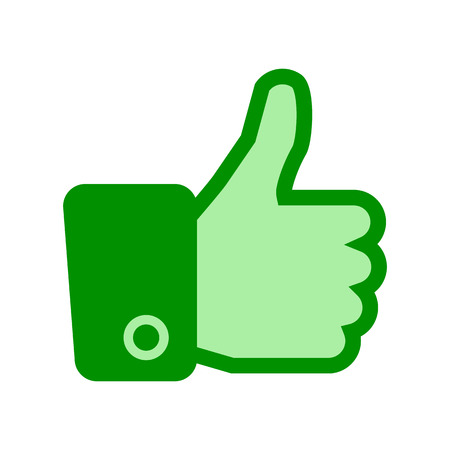 Thumb up, i like it, Yes, good – vector Illusztráció