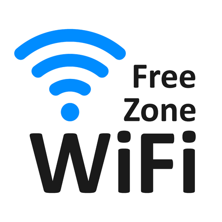 Free wifi logo zone – vector for stock