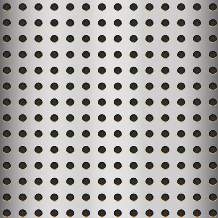 Aluminum texture with hole – vector