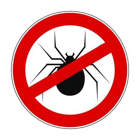 Anti spider - vector Иллюстрация