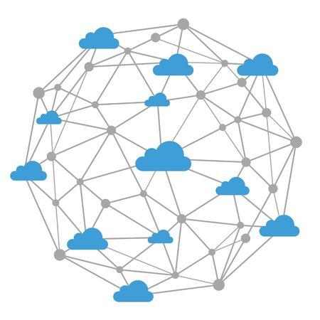 Cloud Network – for stock Vektoros illusztráció