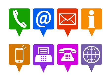 Location contact icons - vector for stock