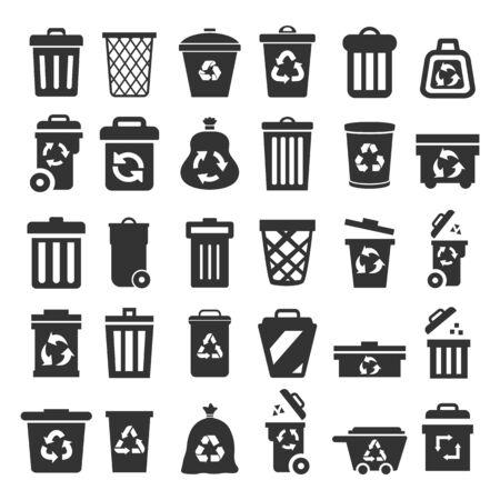 Ensemble de poubelle - pour le stock