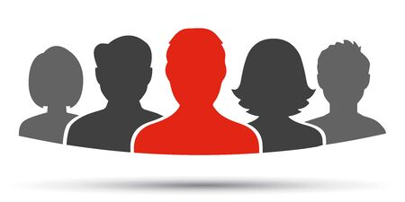 Teamwork, staff, partnership icon - for stock