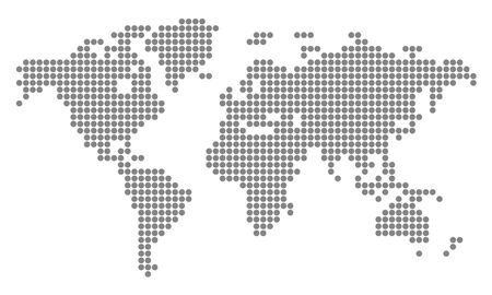 World Map with pixels - vector