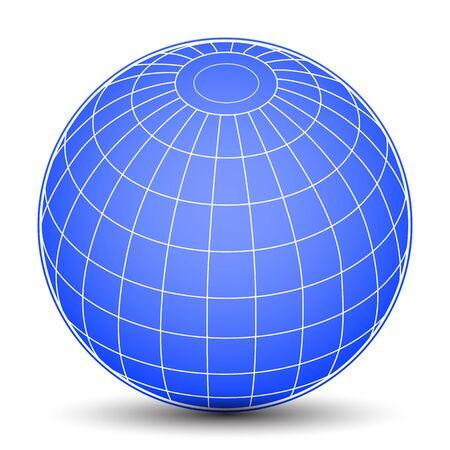 Blue globes - stock vector