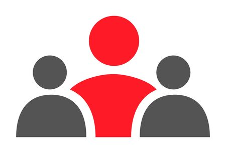 Teamwork, staff, partnership icon, three person - vector