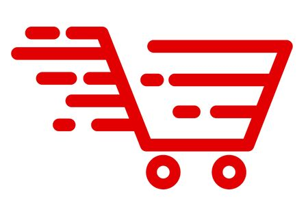 Fast shipping delivery basket, fast shipping service – stock vector Векторная Иллюстрация