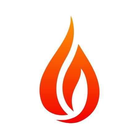 Fire logo. Red, yellow fire. Icon illustration for design - vector