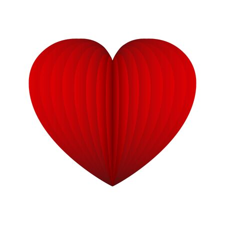 Red heart of the plates - vector